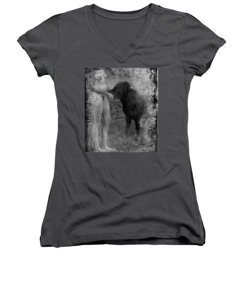 Belfast Nude With Mininature  Women's V-Neck