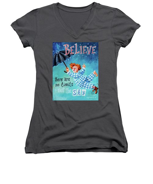 Believe Women's V-Neck (Athletic Fit)
