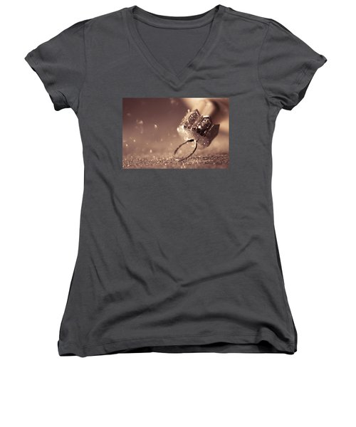 Believe In The Magic Women's V-Neck T-Shirt (Junior Cut) by Yvette Van Teeffelen