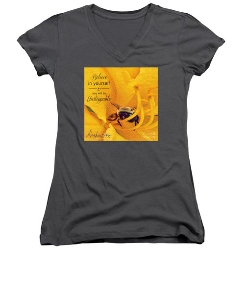 Believe In Yourself Women's V-Neck