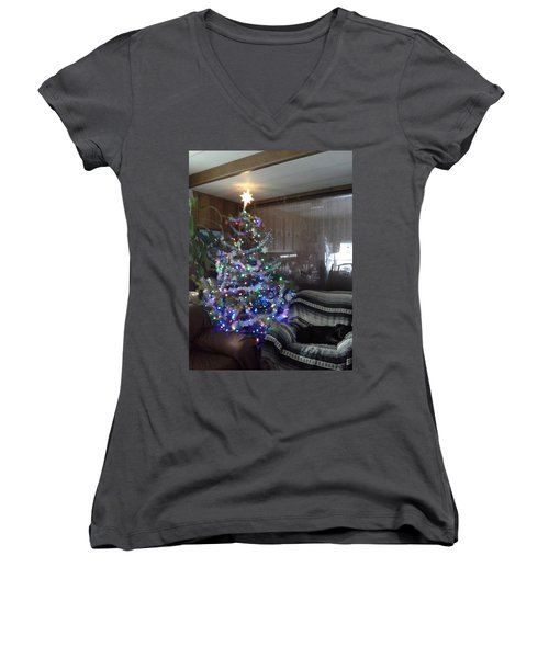 Bella Christmas 2013 Women's V-Neck T-Shirt