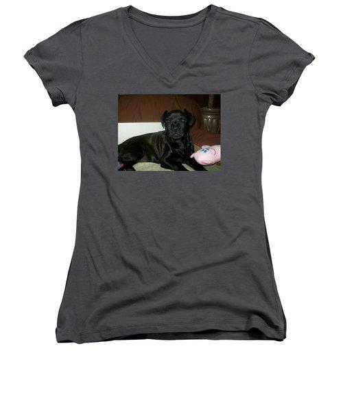 Bella Women's V-Neck T-Shirt (Junior Cut) by Jewel Hengen