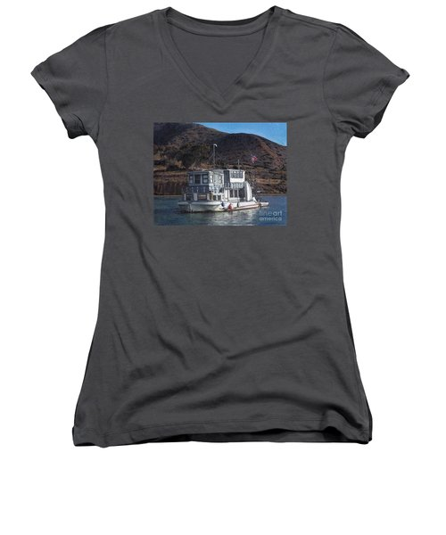 Bellena Women's V-Neck T-Shirt (Junior Cut) by Randy Sprout