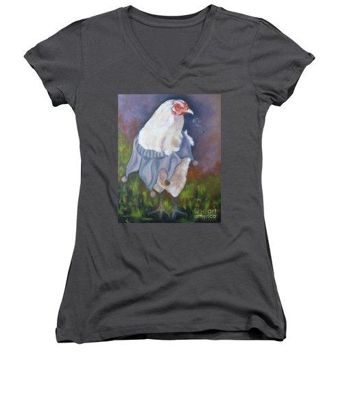 Beloved Chicken Women's V-Neck T-Shirt