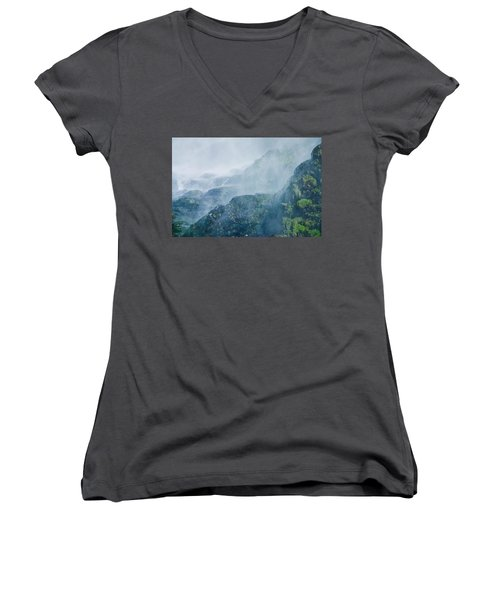Below Wallace Falls Women's V-Neck