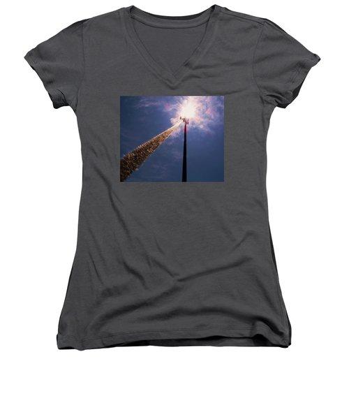 Women's V-Neck T-Shirt (Junior Cut) featuring the photograph Beltsville by Robert Geary