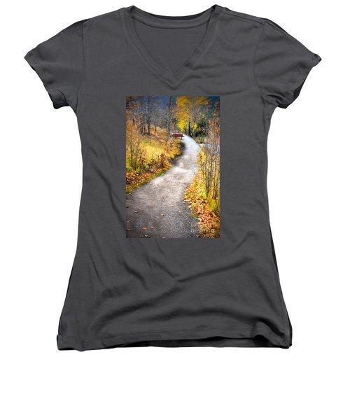 Bench On A Hill Women's V-Neck