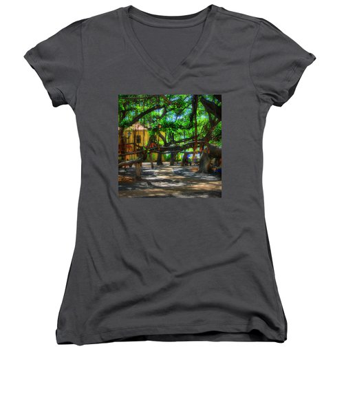 Beneath The Banyan Tree Women's V-Neck (Athletic Fit)