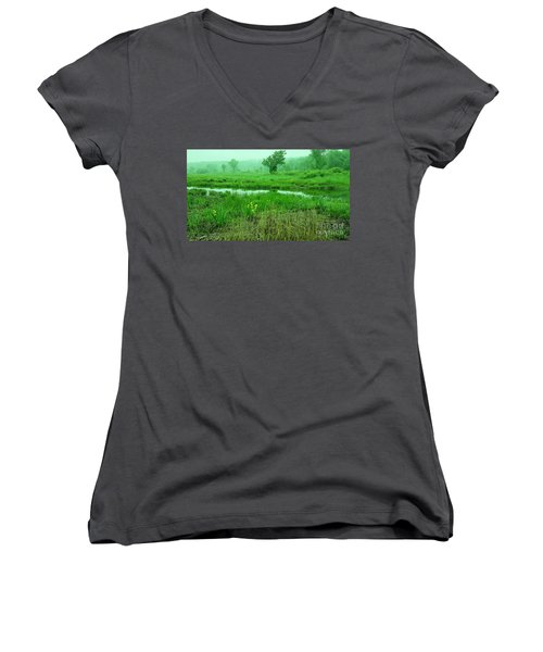 Beneath The Clouds Women's V-Neck (Athletic Fit)