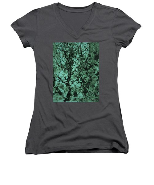 Beneath The Surface Women's V-Neck T-Shirt (Junior Cut) by David Gordon