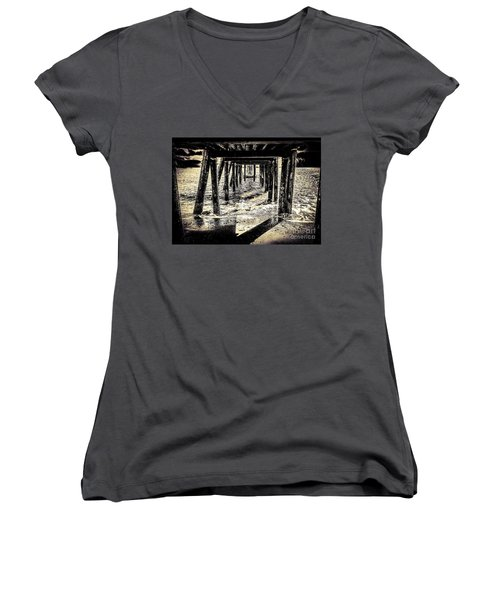 Beneath Women's V-Neck T-Shirt (Junior Cut) by William Wyckoff