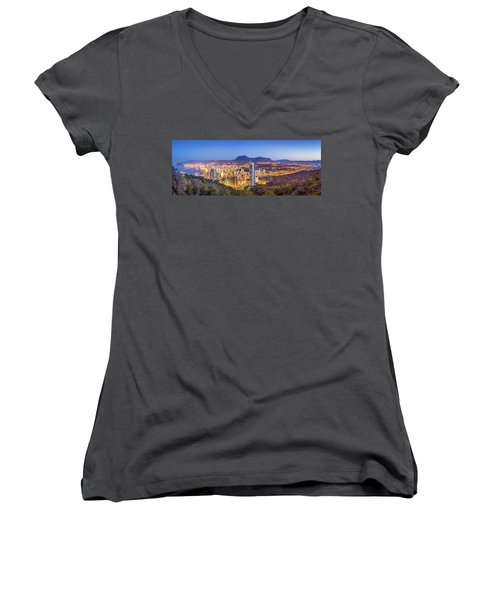 Benidorm At Sunrise, Spain. Women's V-Neck