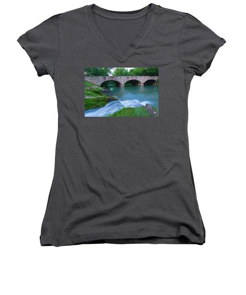 Women's V-Neck T-Shirt (Junior Cut) featuring the photograph Bennett Spring by Steve Stuller