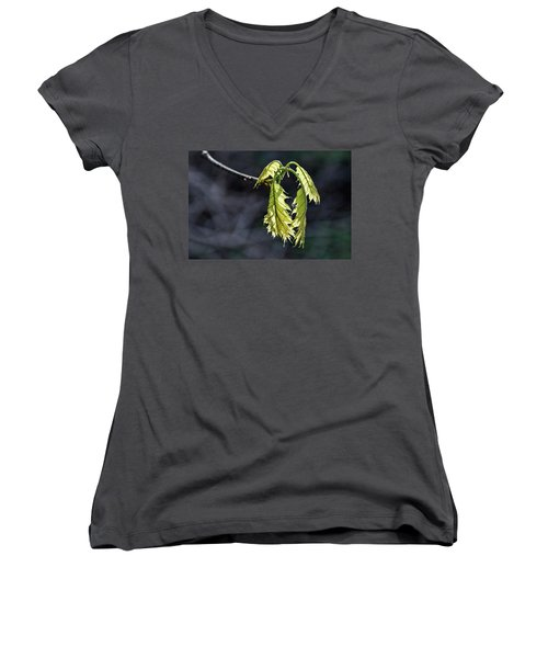 Bent On Growing - Women's V-Neck T-Shirt