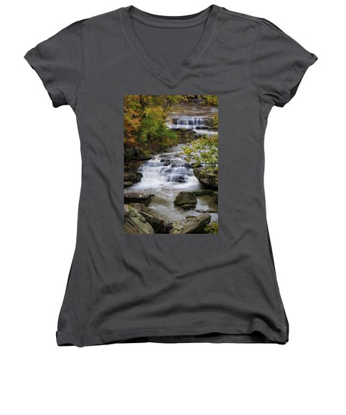 Women's V-Neck featuring the photograph Berea Falls by Dale Kincaid
