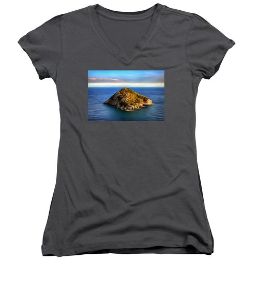 Bergeggi Island Women's V-Neck