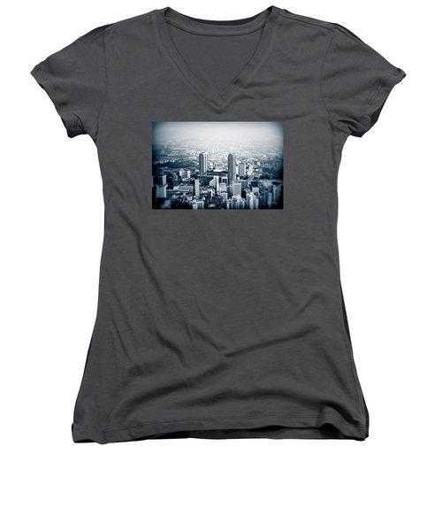 Women's V-Neck T-Shirt (Junior Cut) featuring the photograph Berjaya by Joseph Westrupp