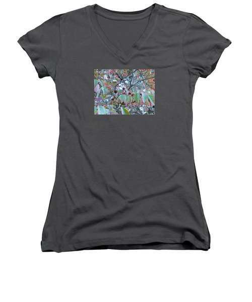 Berries Women's V-Neck T-Shirt (Junior Cut) by Kay Gilley