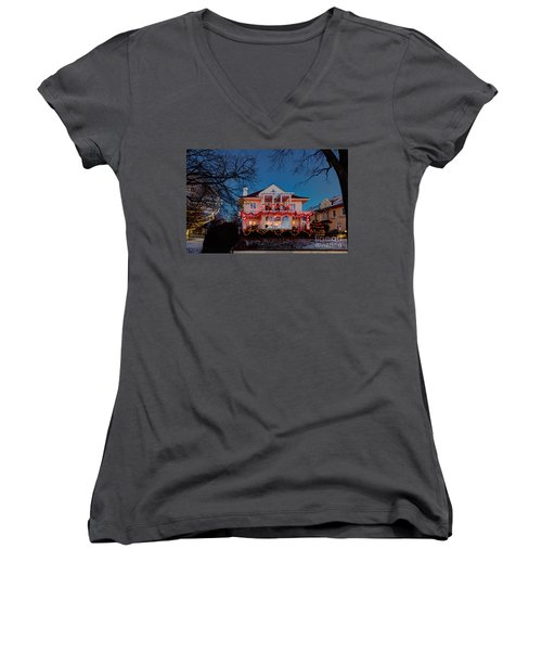 Best Christmas Lights Lake Of The Isles Minneapolis Women's V-Neck (Athletic Fit)