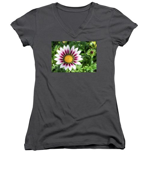 Best Face Forward Women's V-Neck T-Shirt (Junior Cut) by Cathy Donohoue