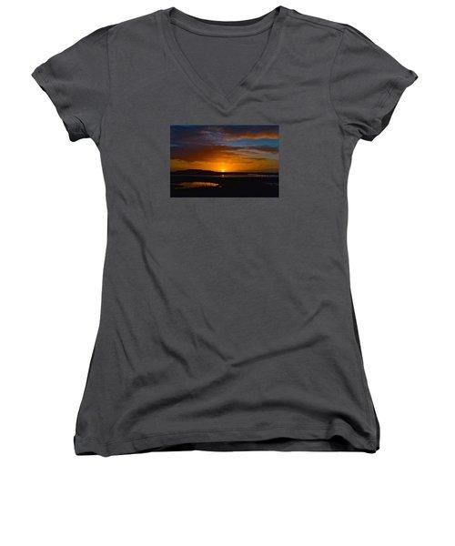 Best One This Year Women's V-Neck T-Shirt (Junior Cut) by Laura Ragland