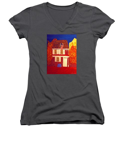 Betsy Ross's House Women's V-Neck (Athletic Fit)
