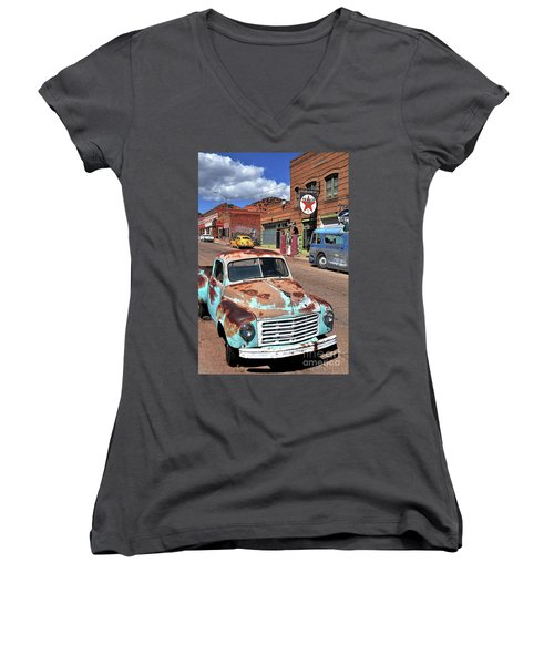Women's V-Neck T-Shirt (Junior Cut) featuring the photograph Better Days by Gina Savage