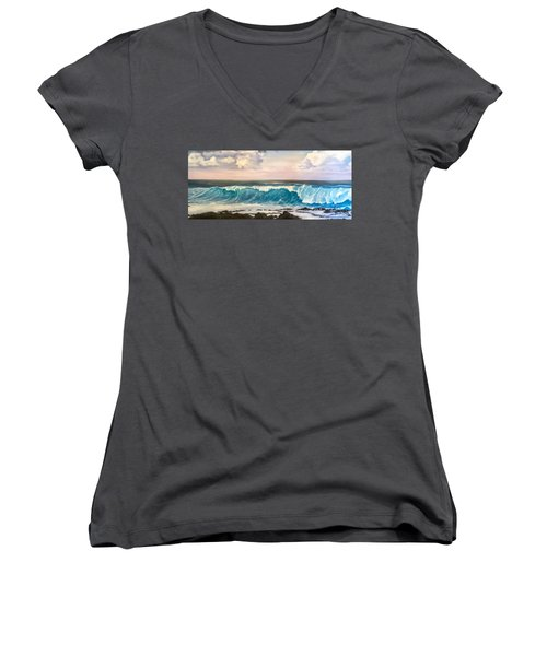 Between The Turtle And The Shark Women's V-Neck (Athletic Fit)