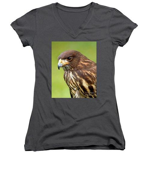 Beware The Predator Women's V-Neck T-Shirt (Junior Cut)