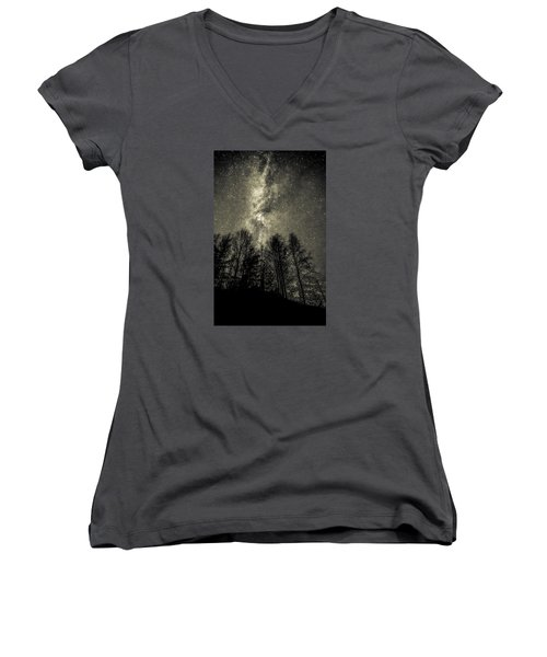 Beyond Eternity Women's V-Neck T-Shirt (Junior Cut) by Rose-Maries Pictures