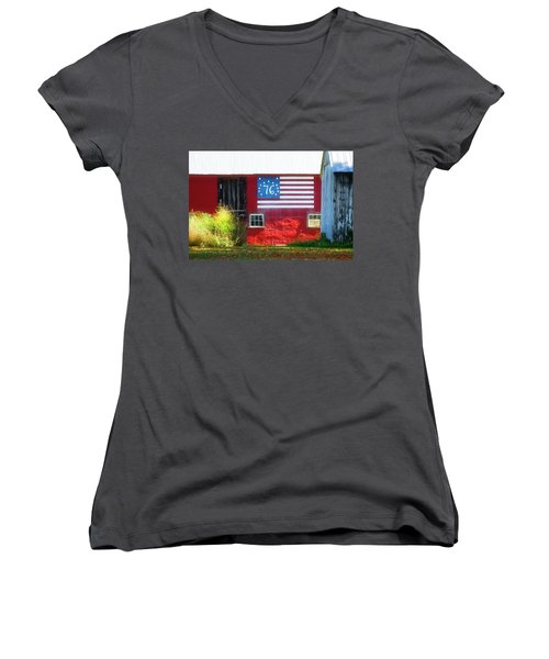 Bicentennial Women's V-Neck (Athletic Fit)