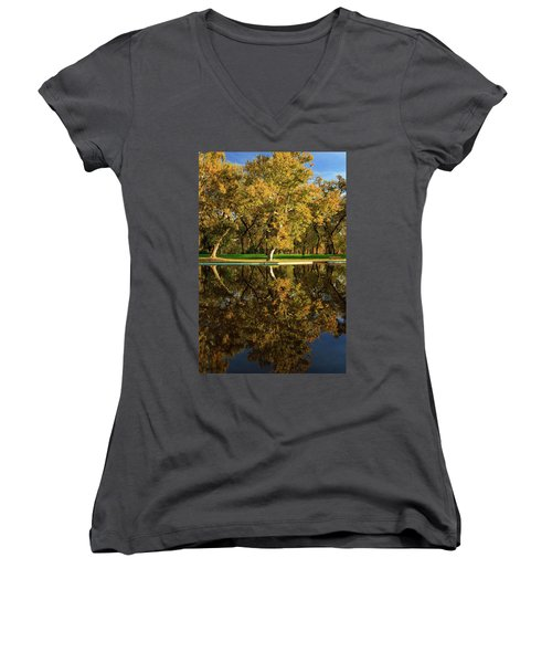 Bidwell Park Reflections Women's V-Neck T-Shirt