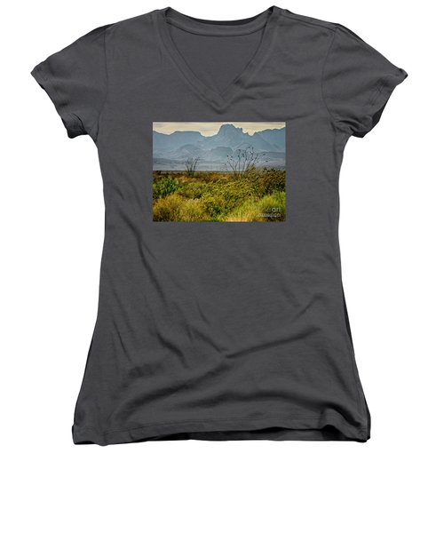 Big Bend Mountains Women's V-Neck (Athletic Fit)