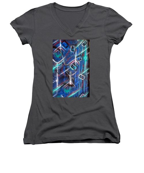 Big Blue Women's V-Neck