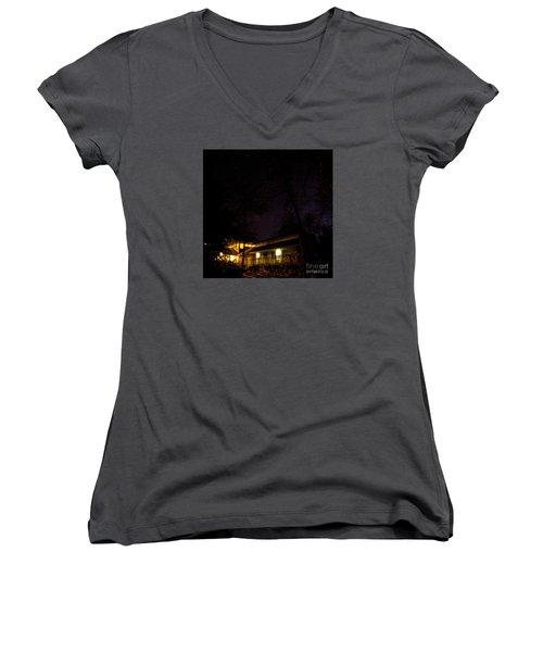 Big Dipper Over Hike Inn Women's V-Neck T-Shirt