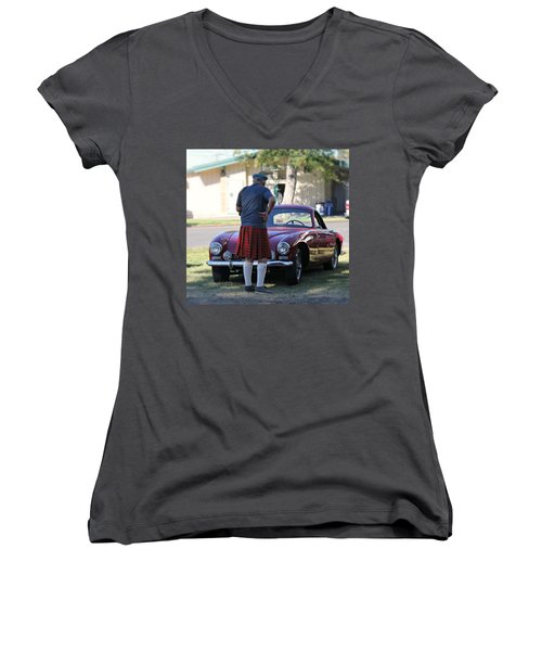 Big Man Little Car Women's V-Neck
