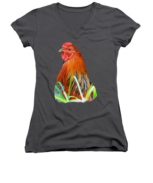 Big Red The Rooster Women's V-Neck