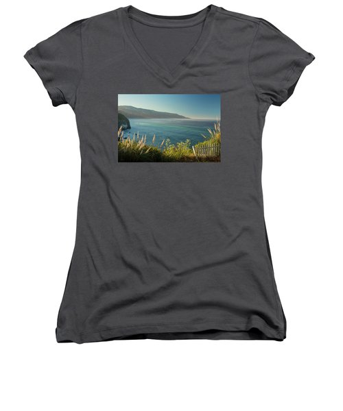 Big Sur At Lucia, Ca Women's V-Neck (Athletic Fit)