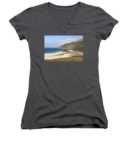 Big Sur Beach Women's V-Neck T-Shirt