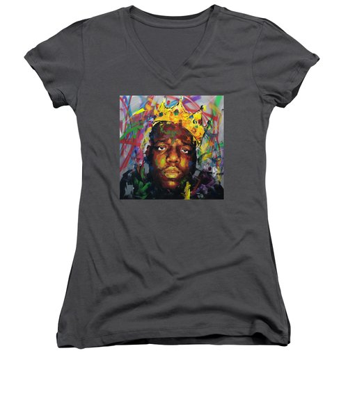 Biggy Smalls II Women's V-Neck T-Shirt