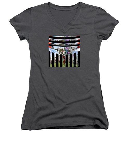 Chevrolet Grille 03 Women's V-Neck T-Shirt
