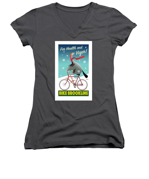 Bike Brookline Women's V-Neck