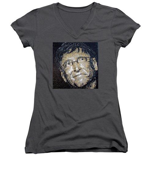 Bill Gates Women's V-Neck T-Shirt