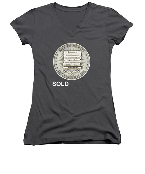 Bill Of Gun Rights Women's V-Neck (Athletic Fit)