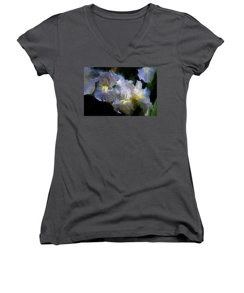 Billowing Irises Women's V-Neck (Athletic Fit)