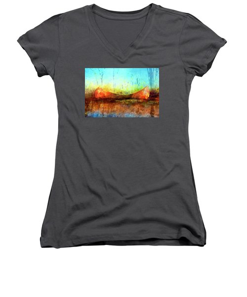 Birch Bark Canoe Women's V-Neck