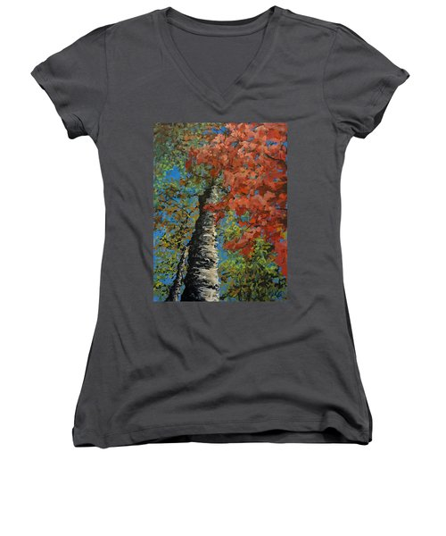 Birch Tree - Minister's Island Women's V-Neck