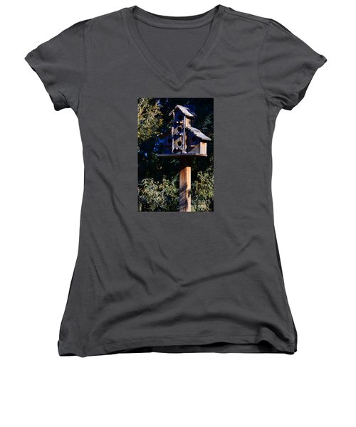 Bird Condos Women's V-Neck (Athletic Fit)