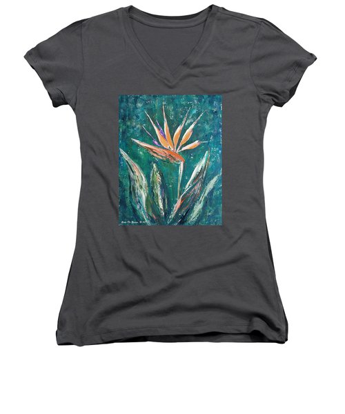 Bird Of Paradise Women's V-Neck (Athletic Fit)