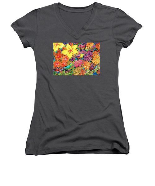 Birds In Paradise Women's V-Neck T-Shirt